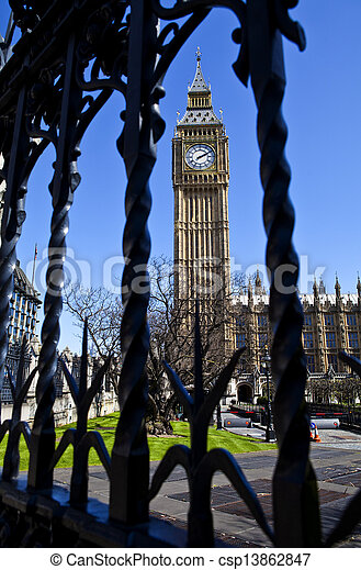 Houses of Parliament in London - csp13862847