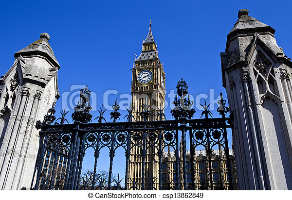 Houses of Parliament in London - csp13862849