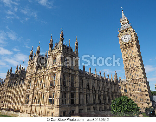 Houses of Parliament in London - csp30489542