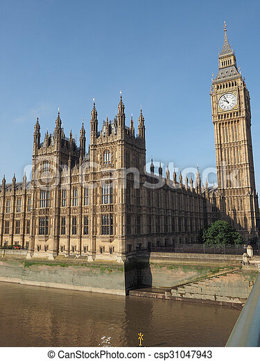 Houses of Parliament in London - csp31047943