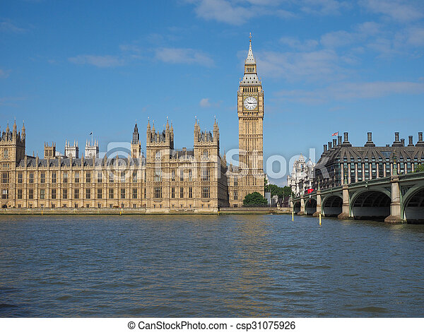 Houses of Parliament in London - csp31075926