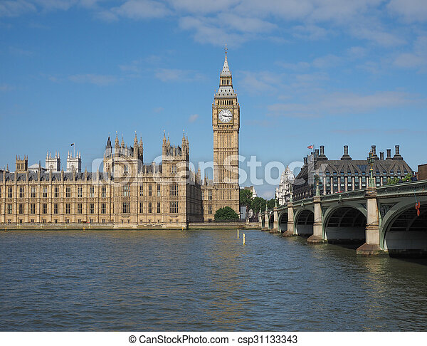 Houses of Parliament in London - csp31133343
