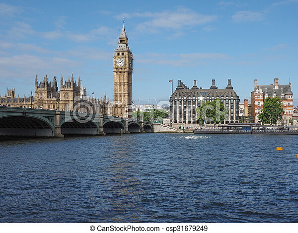 Houses of Parliament in London - csp31679249