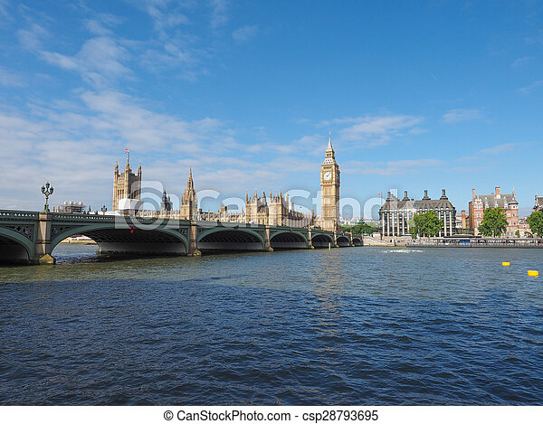 Houses of Parliament in London - csp28793695