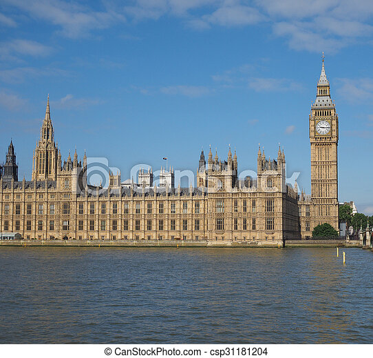 Houses of Parliament in London - csp31181204