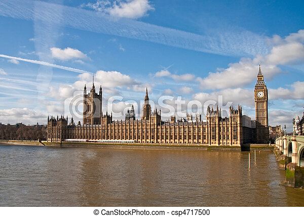 houses of parliament in London - csp4717500