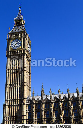 Houses of Parliament in London - csp13862836