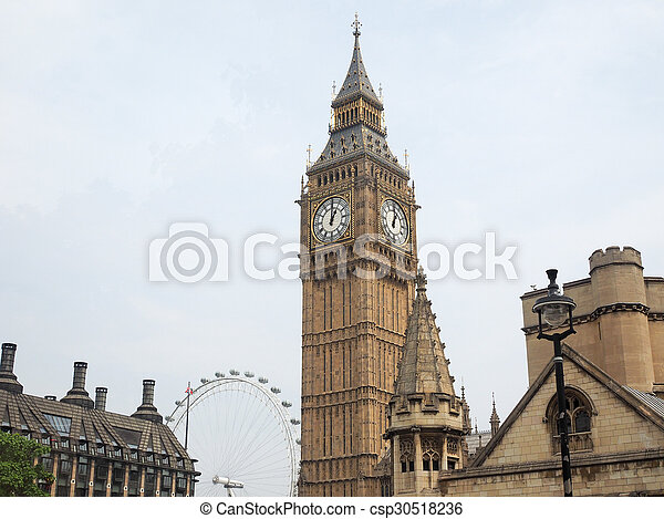 Houses of Parliament in London - csp30518236