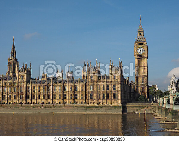 Houses of Parliament in London - csp30838830