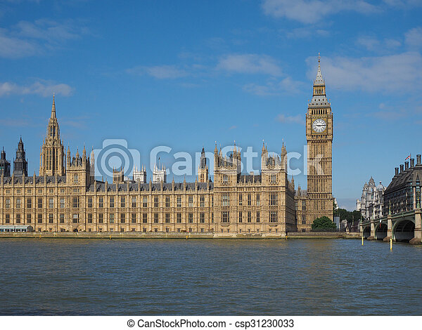 Houses of Parliament in London - csp31230033