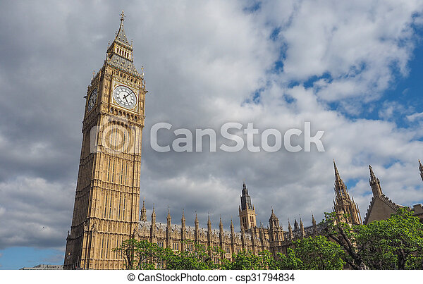 Houses of Parliament in London - csp31794834