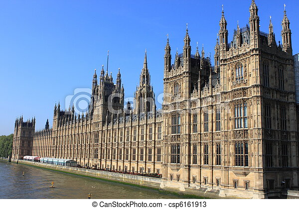 Houses of Parliament in London - csp6161913