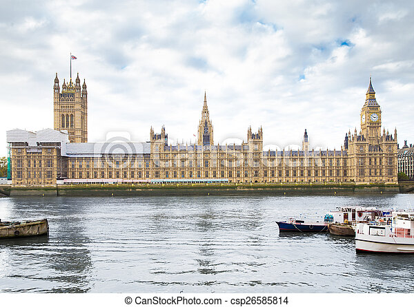 Houses of Parliament in London UK - csp26585814