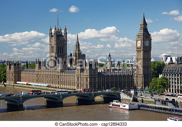 Houses of Parliament in London, UK - csp12894333