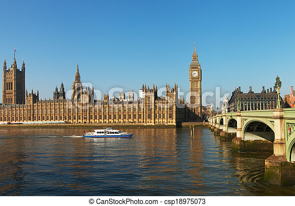 Houses of parliament, London. - csp18975073