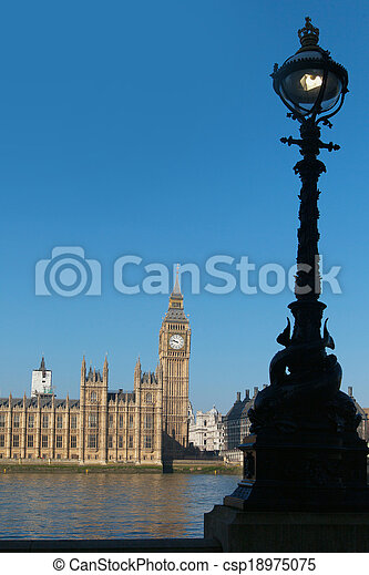 Houses of parliament, London. - csp18975075