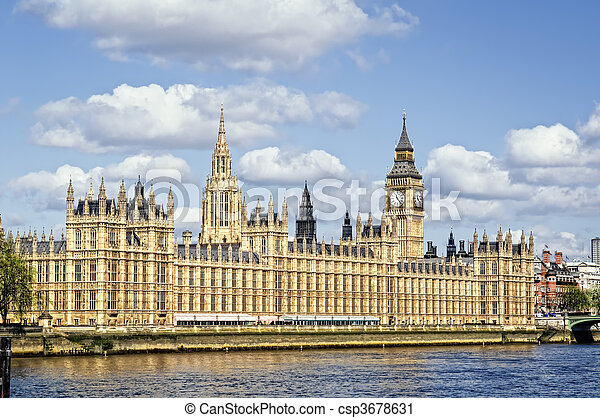 Houses of Parliament, London. - csp3678631