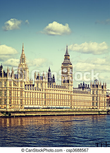 Houses of Parliament, London. - csp3688567