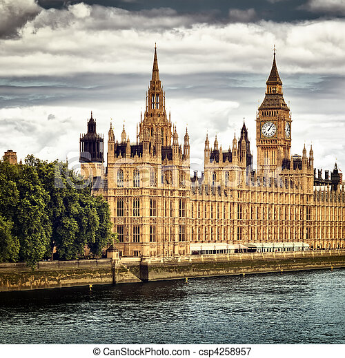 Houses of Parliament, London. - csp4258957