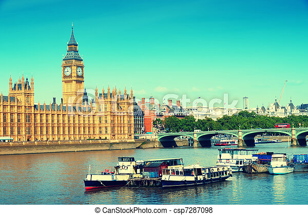 Houses of Parliament, London - csp7287098