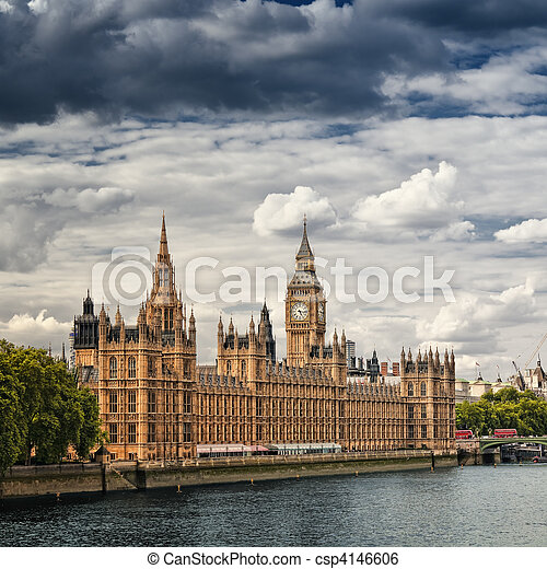 Houses of Parliament, London. - csp4146606