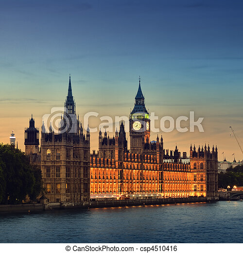 Houses of Parliament. London. - csp4510416
