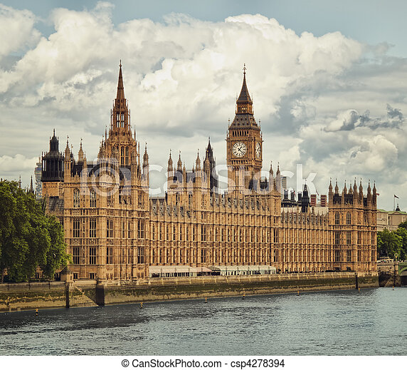Houses of Parliament, London. - csp4278394