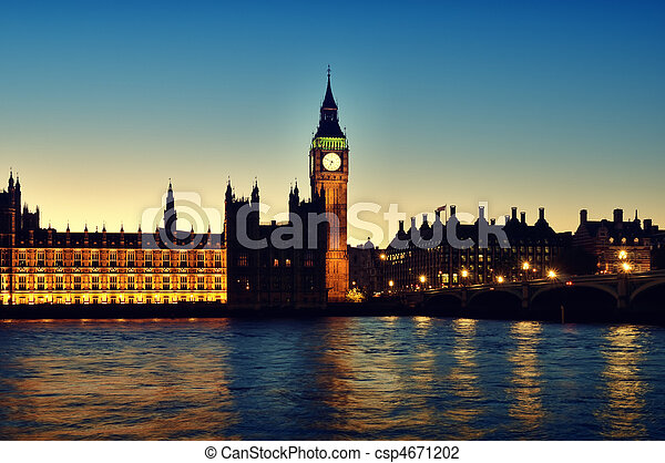 Houses of Parliament, London - csp4671202