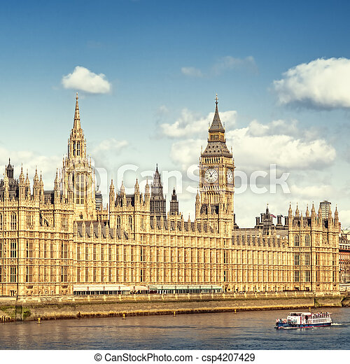 Houses of Parliament, London. - csp4207429