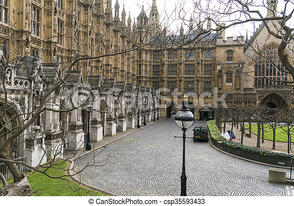 Houses of Parliament London Westminster - csp35593433