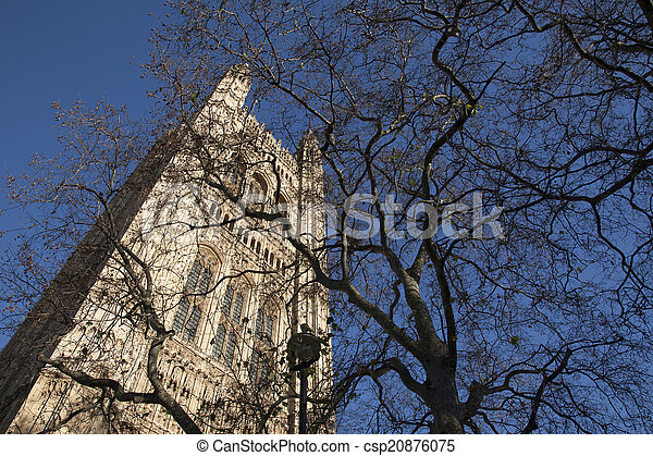 Houses of Parliament, Westminster; London - csp20876075