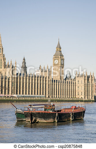 Houses of Parliament, Westminster; London - csp20875848