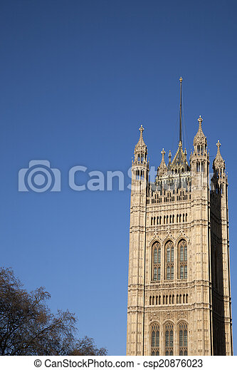 Houses of Parliament, Westminster; London - csp20876023