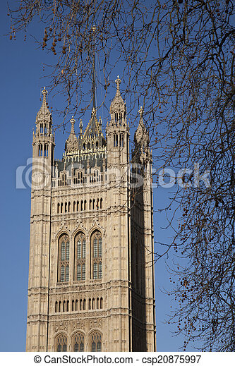 Houses of Parliament, Westminster; London - csp20875997