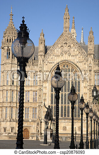 Houses of Parliament, Westminster; London - csp20876093