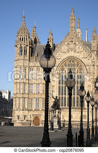 Houses of Parliament, Westminster; London - csp20876095
