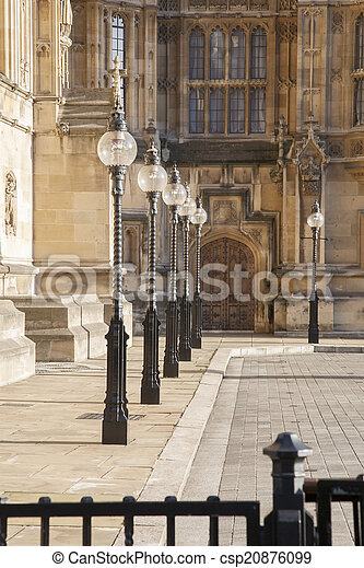 Houses of Parliament, Westminster; London - csp20876099