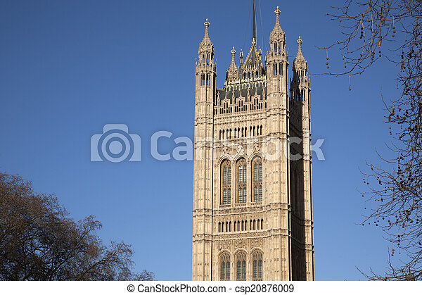 Houses of Parliament, Westminster; London - csp20876009