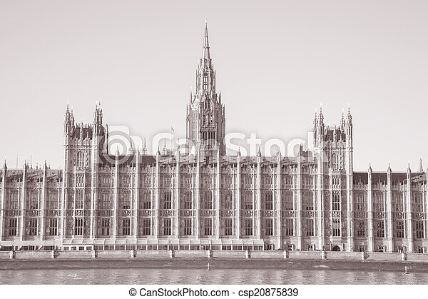 Houses of Parliament, Westminster; London - csp20875839