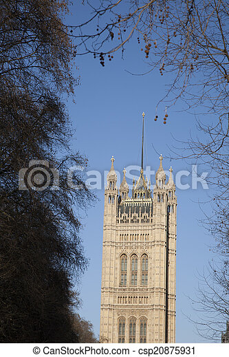 Houses of Parliament, Westminster; London - csp20875931
