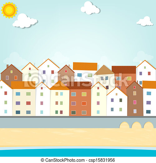 houses on the waterfront - csp15831956