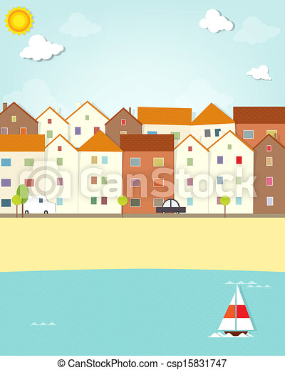 houses on the waterfront - csp15831747