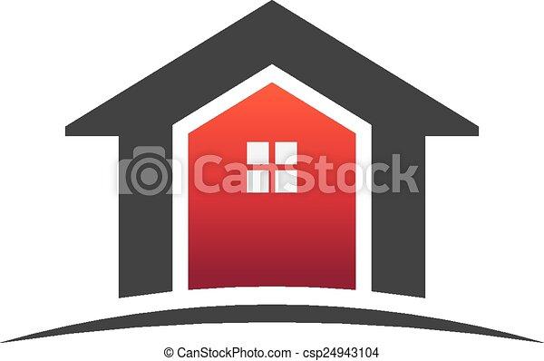 Houses real estate logo - csp24943104