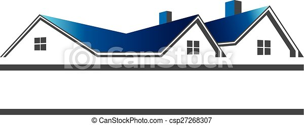 Houses roofs for real estate logo - csp27268307