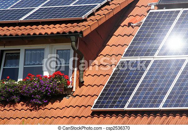 Housetop with solar - csp2536370