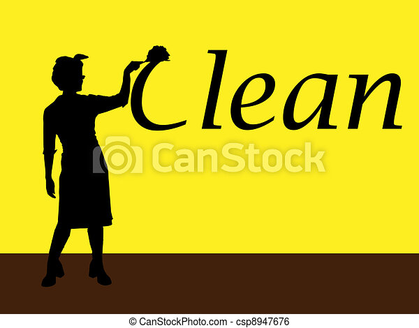 housewife cleaning - csp8947676