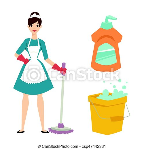 housewife girl homemaker cleaning pretty girl wash cleanser rh canstockphoto ca pretty french girl clipart pretty girl face clipart