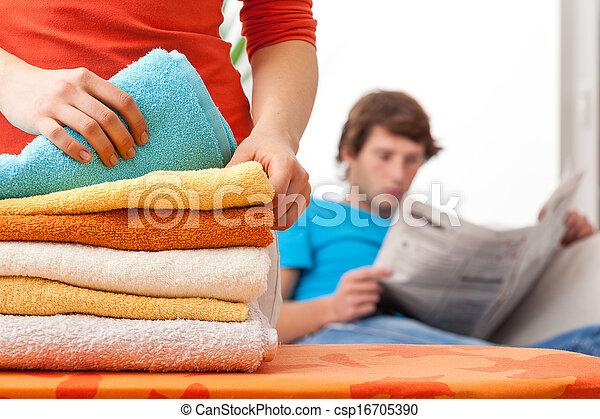 Housewife working hard - csp16705390