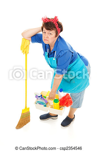 My mature cleaning lady!