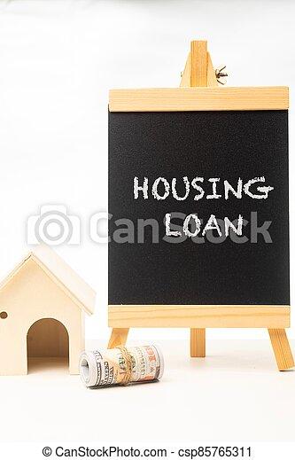 Housing Loan wordings on a chalkboard - csp85765311